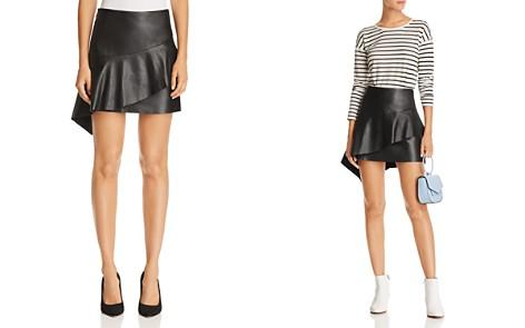 Joie Botan Tiered Leather Skirt - Bloomingdale's_2