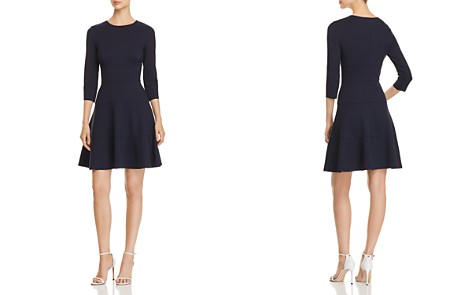 Three Dots Seamed Ponte Fit-and-Flare Dress - Bloomingdale's_2