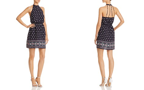 AQUA Strappy Geometric Print Dress - 100% Exclusive - Bloomingdale's_2