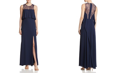 BCBGMAXAZRIA Tiered Lace-Back Gown - Bloomingdale's_2