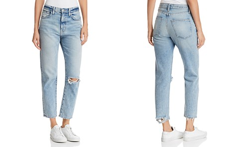 Current/Elliott The Vintage Cropped Slim Boyfriend Jeans in 2 Year Destroy Rigid Indigo - Bloomingdale's_2