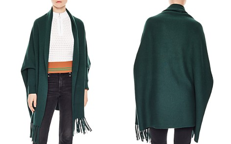 Sandro Cloud Fringed Open-Front Cardigan - Bloomingdale's_2