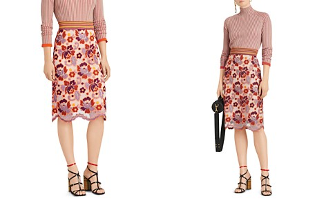 Burberry Sodbury Floral Embroidered A-Line Skirt - Bloomingdale's_2