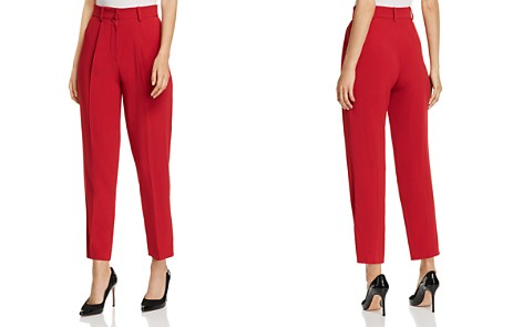 Emporio Armani Cropped High-Waisted Pants - Bloomingdale's_2