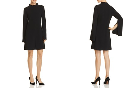 Theory Flared-Sleeve Crepe Dress - Bloomingdale's_2