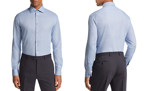 Emporio Armani Micro-Dot-Print Tailored Fit Shirt - Bloomingdale's_2