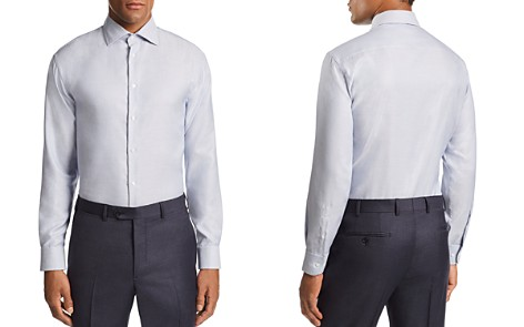 Emporio Armani Stitched-Stripe Tailored Fit Shirt - Bloomingdale's_2