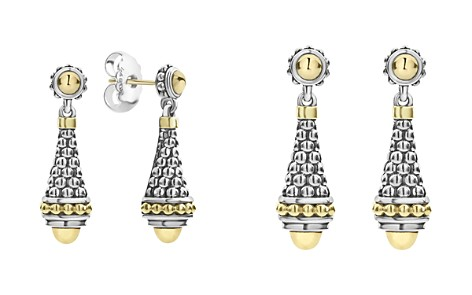 LAGOS 18K Yellow Gold & Sterling Silver Signature Caviar Drop Earrings - Bloomingdale's_2