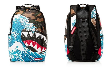 Sprayground Faux-Leather Camo & Wave Print Shark Backpack - Bloomingdale's_2