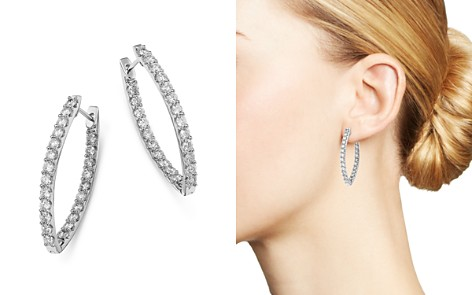 Bloomingdale's Diamond Inside Out Earrings in 14K White Gold, 3.0 ct. t.w. - 100% Exclusive_2