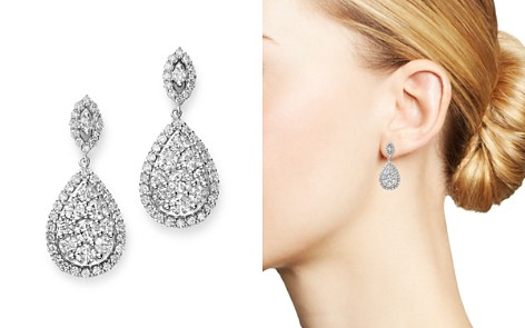 Bloomingdale's Diamond Teardrop Earrings in 14K White Gold, 3.0 ct. t.w. - 100% Exclusive_2