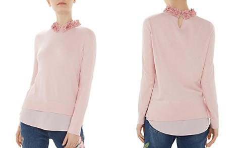 Ted Baker Nansea Floral-Collar Layered-Look Sweater - Bloomingdale's_2
