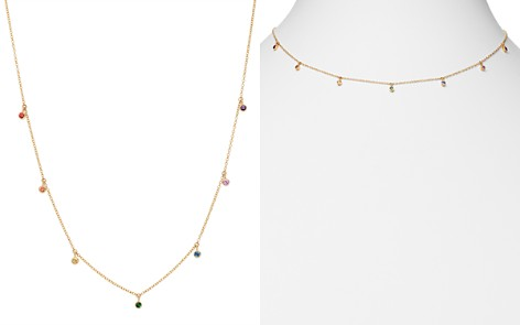 "Zoë Chicco 14K Yellow Gold Rainbow Sapphire Dangle Adjustable Necklace, 14""-16"" - Bloomingdale's_2"