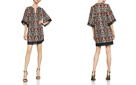 BCBGMAXAZRIA Tati Embroidered Shift Dress - Bloomingdale's_2