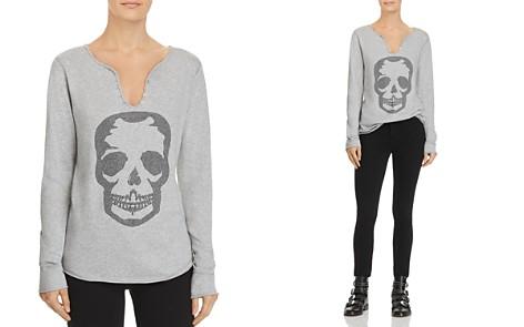 Zadig & Voltaire x AQUA Skull Embellished Henley - 100% Exclusive - Bloomingdale's_2