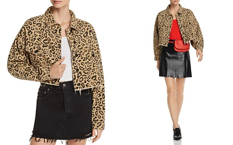 Sunset + Spring Leopard Print Cropped Denim Jacket - 100% Exclusive - Bloomingdale's_2
