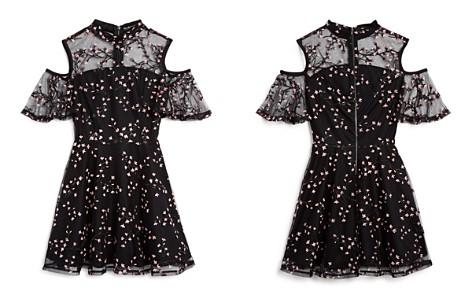 Miss Behave Girls' Kathleen Floral-Embroidered Cold-Shoulder Dress - Big Kid - Bloomingdale's_2