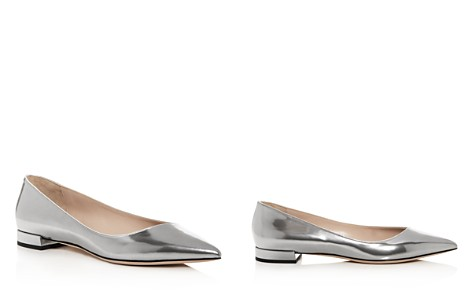 Giorgio Armani Women's Leather Pointed Toe Ballet Flats - Bloomingdale's_2