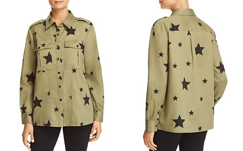 Marled Star-Print Military Shirt Jacket - Bloomingdale's_2