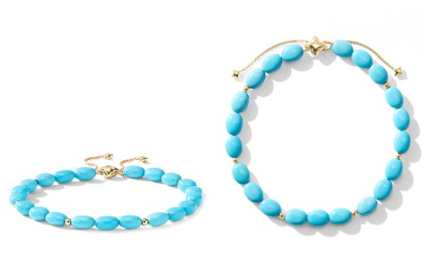 David Yurman Bijoux Spiritual Beads Bracelet with Turquoise and 18K Gold - Bloomingdale's_2