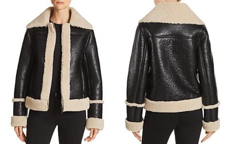 MOTHER The Boxy Faux Shearling Moto Jacket - Bloomingdale's_2