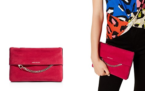 KAREN MILLEN Medium Chain Detail Leather Clutch Bag - Bloomingdale's_2