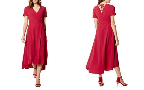 KAREN MILLEN Lace-Up Back Faux-Wrap Dress - Bloomingdale's_2