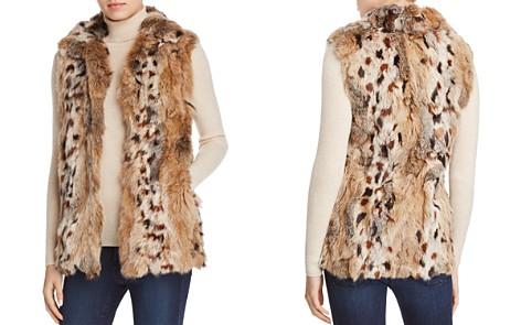 Adrienne Landau Leopard Print Rabbit-Fur Vest - 100% Exclusive - Bloomingdale's_2