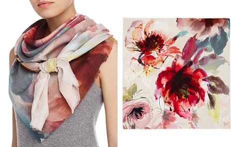 Larioseta Watercolor Floral Print Scarf - Bloomingdale's_2