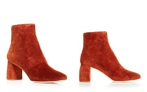 Loeffler Randall Women's Cooper Almond Toe Corduroy Mid-Heel Booties - Bloomingdale's_2