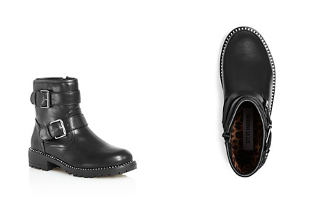 STEVE MADDEN Girls' Faux-Leather Moto Booties - Little Kid, Big Kid - Bloomingdale's_2