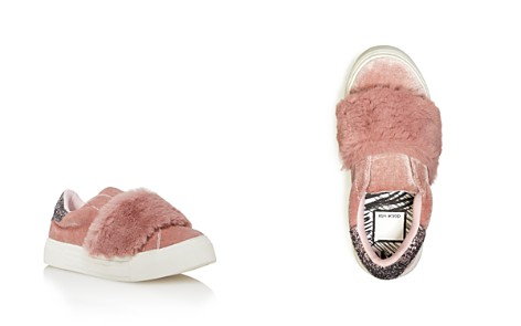 Dolce Vita Girls' Caisi Velvet & Glitter Sneakers with Faux Fur - Little Kid, Big Kid - Bloomingdale's_2