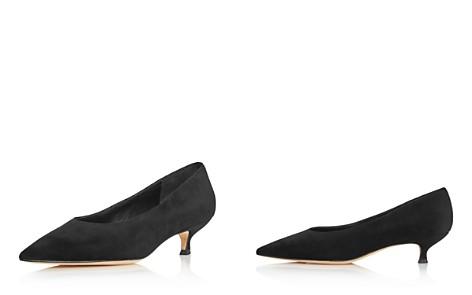 kate spade new york Women's Dale Pointed Toe Suede Kitten Heel Pumps - Bloomingdale's_2