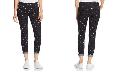 Current/Elliott The Easy Stiletto Cuffed Skinny Jeans in Black Polka Dot - Bloomingdale's_2