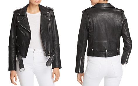 Current/Elliott The Shaina Leather Biker Jacket - Bloomingdale's_2