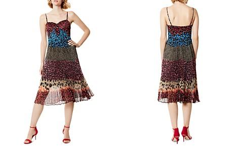 KAREN MILLEN Mixed Animal-Print Pleated Dress - Bloomingdale's_2