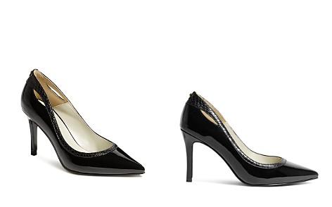 KAREN MILLEN Women's Court Pointed Toe Cut-Out High-Heel Pumps - Bloomingdale's_2