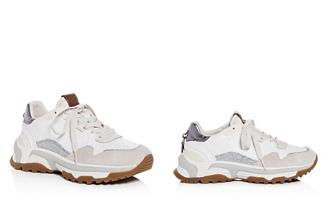 COACH C143 Women's Mixed Media Lace Up Sneakers - Bloomingdale's_2