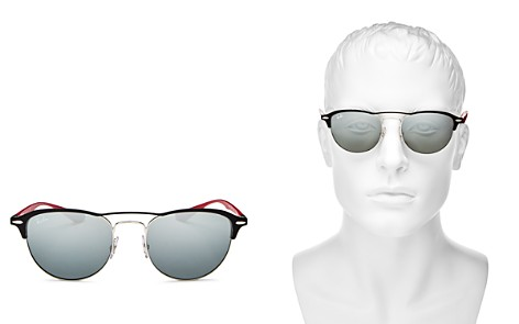 Ray-Ban Men's Mirrored Brow Bar Round Sunglasses, 54mm - Bloomingdale's_2