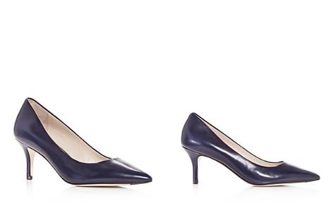 Cole Haan Women's Vesta Leather Pointed Toe Mid-Heel Pumps - Bloomingdale's_2