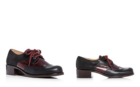 Chie Mihara Women's Xeli Two-Tone Leather Block-Heel Oxfords - Bloomingdale's_2