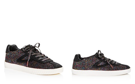 Tretorn Women's Glitter Knit Lace Up Sneakers - Bloomingdale's_2