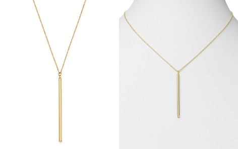 "Bloomingdale's Bar Drop Pendant Necklace in 14K Yellow Gold, 18"" - 100% Exclusive_2"