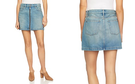 1.STATE Zip-Front Denim Mini Skirt - Bloomingdale's_2