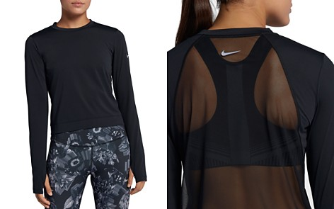 Nike Miler Mesh-Back Cropped Top - Bloomingdale's_2