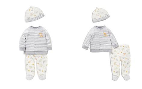 Little Me Boys' Woodland Animal Print Cardigan, Footie Pants & Hat Set - Baby - Bloomingdale's_2