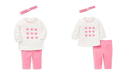 Little Me Girls' Heart-Print Sweatshirt, Leggings & Headband Set - Baby - Bloomingdale's_2
