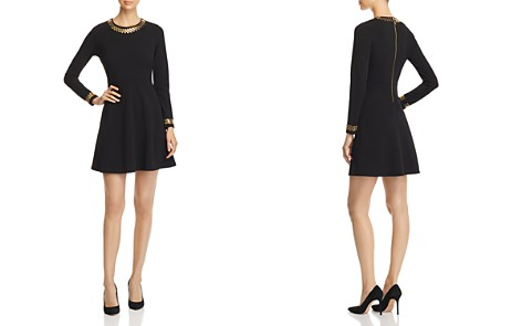 MICHAEL Michael Kors Studded Fit-and-Flare Dress - Bloomingdale's_2