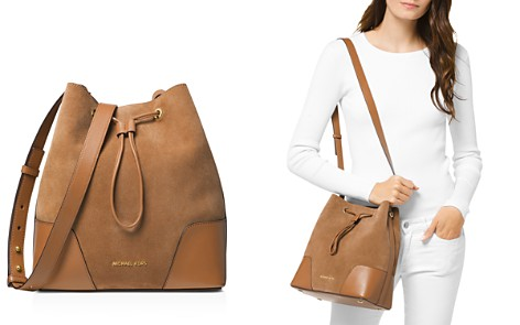 MICHAEL Michael Kors Cary Medium Suede Bucket Bag - Bloomingdale's_2