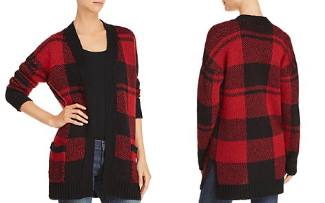 AQUA Buffalo Plaid Cardigan - 100% Exclusive - Bloomingdale's_2
